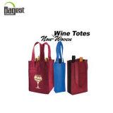 Sacchetto di trasporto non tessuto a buon mercato personalizzato del vino per la promozione o acquistare