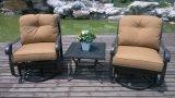 Insieme di alluminio della mobilia del giardino di chiacchierata del club nazionale dello spazio di risparmio della scivolata della parte girevole