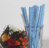 Paja de beber de papel del partido del papel de los productos de la fuente azul de la cocina