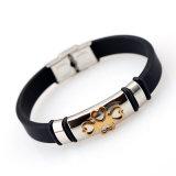 Neues Mann-Armband-Kreuz-Silikon-Form-Armband