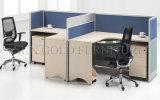 Estações de trabalho dobro do centro de chamadas das fotos populares do projeto da tabela do escritório (SZ-WS350)