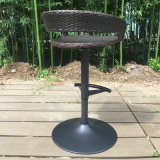 Black Outdoor Swivel Dining Garden Patio Rattan Bar Stool (FS-R002)