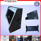 Montaggio TV della lamiera sottile che fa pubblicità all'allegato per le caselle di corrente elettrica