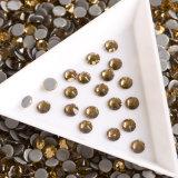 Le cristal en gros de Hotfix perle le Topaz léger du Colorado Hotfix de Rhinestones en cristal de 10ss
