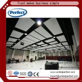Excellente absorption acoustique en fibre de verre du déflecteur de plafond /déflecteur Plafond acoustique /panneau de plafond suspendu