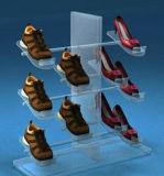 L'acrylique fait sur commande/plexiglass de deux couches chausse le présentoir