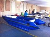 Liya 3m4.3m de Opblaasbare Catamaran van de Boot van de Hoge snelheid van pvc van Korea