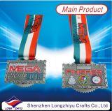 輸出業者のロシアのスポーツの長方形メダル乗車のゲームメダル