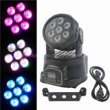 DMX512 Mini 7*12W RGBWA 5 in 1 LED Moving Head Wash Effect Light