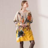2017 neue Überformatdamen strickten Strickjacke, Acryldrucken-Pullover