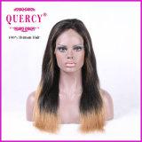 まっすぐな自然なヘアラインを持つ女性のためのマレーシアのレースの前部かつらはすべてのカラー使用できる