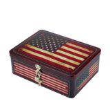 Hot Sale Rectangle Creative verrouillé boîte cadeau en étain, Retro Case, un emballage cadeau Box, boîte de faveur de mariage, Sweet Tin Box, boîte de bonbons, biscuits Box