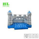 De grijze Uitsmijter van het Kasteel van de Bodem van de Oppervlakte Blauwe Comfortabele Opblaasbare Springende