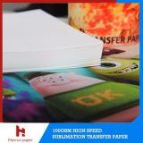 papier d'imprimerie de transfert de sublimation de feuille de 100GSM A4