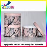 2018 Caixa de papelão de luxo personalizado de fantasia ronda do cilindro na Caixa de papel