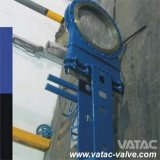 Volante Operated Ss304/Ss316 Flange Knife Gate Valve con Bonnet