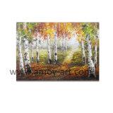 Messer-Farbanstrich-Birken-Baum-Wand-Kunst-Dekor für Haus