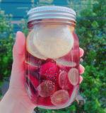 Frasco de pedreiro para garrafa de vidro para armazenamento de bebidas e alimentos