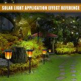 Drahtlos 96 das LED-Solarwand-Licht-im Freientanzen-Flamme-Licht imprägniern