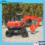 Excavatrice à roues d'équipement de construction de route pour la vente