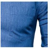 Рубашка платья Demin пригонки людей вскользь тонкая с карманн