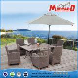 全天候用円形の藤の屋外のテラスの家具