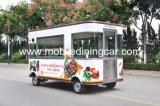 Indicador que vende o caminhão móvel do alimento da cantina do BBQ do alimento