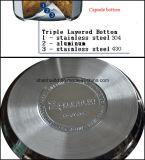 acciaio inossidabile stabilito della padella antiaderante 6PCS