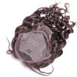Покрасьте человеческие волосы парика фронта шнурка типа способа волны парика человеческих волос #4 бразильские свободные для афроамериканцев