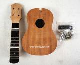 Набор гитары Mahogany наборов Ukulele сопрано тела DIY незаконченный