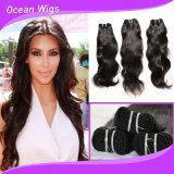 100% tessiture peruviane dei capelli umani di Remy del Virgin dell'onda naturale non trattata del Virgin (W-1090