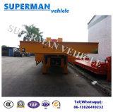 80t hydraulische Lowbed/de Lage Aanhangwagen van de Vrachtwagen van de Lading van de Lader van het Dek Lage Semi