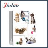 128GSM 광택 있는 박판으로 만들어진 아트지 고양이 물색 선물 종이 봉지