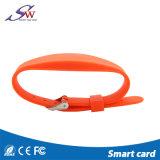 Imprimé personnalisé MF 1K S50 13.56MHz RFID bracelet en silicone