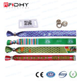 Multi-Color Pulsera tejida RFID de códigos de barras