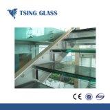 Décoration colorée tempéré durci pour mur rideau en verre feuilleté