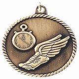 Laiton antique Prix Médaille d'honneur de l'armée avec cordon gagnant
