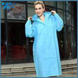 大人の防水ポリエステルPVCレインコート屋外のWorwear