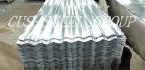 Chapa de aço galvanizada de onda de telha/água de telhado do ferro do soldado