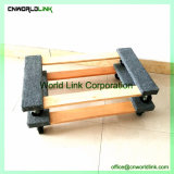 Motore di legno del compensato a ruote rotolamento con la coperta della fibra