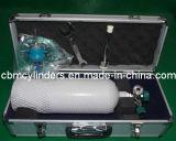 Il cilindro di ossigeno portatile trasporta il sacchetto
