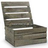 Pays de stockage des caisses en bois rustique de style boîte avec couvercle