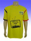 Kundenspezifisches förderndes Zeichen druckte Baumwollt-shirt 100%
