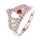 CZ Diamond bague reine de la couronne royale doigt de gros (IRC1011)