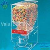 Countertop de Duidelijke Acryl BulkDoos van de Automaat van het Suikergoed met de Plastic Houder van de Lepel