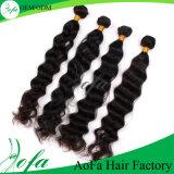 100%の自然な波のバージンの毛の人間のブラジルの毛
