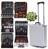 Kraftwelle Deutschland 186PCS Werkzeugkasten mit Rädern, Aluminiumfall-Set, Reparatur-Hilfsmittel-Installationssatz