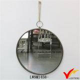 Ronda antiguo de la vendimia hecha a mano de la pared del metal del espejo para la decoración del hogar