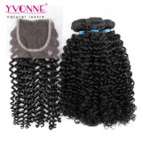 Curly brasileiro Virgin Hair com Closure