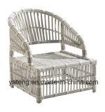 Confortável Outdoor Leisure Garden Furniture Coffee Set com otomano em alumínio com PE-Rattan (YT630)